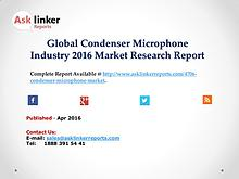 Global Condenser Microphone Market 2016 Investment Feasibility