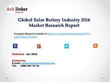 Global Solar Battery Market Analysis of Key Manufacturers 2016