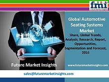Automotive Seating Systems Market Growth and Segments,2016-2026
