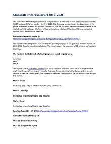 Global 3D Printers Market Research Report