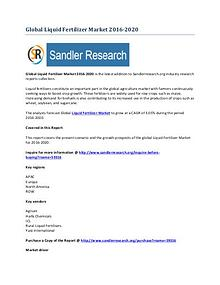 Liquid Fertilizer Market 2016-2020 Global Research Report