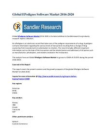 Global EPedigree Software Market To 2020 Comprehensive Market Researc