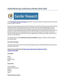 Metal Caps and Closures Market Key Vendors Research Report to 2020