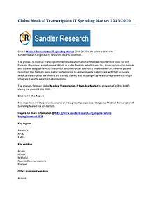 Worldwide Medical Transcription IT Spending Market by 2020 Analyzed i