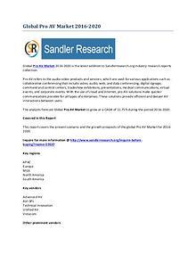Pro AV Market Key Vendors Research Report to 2020