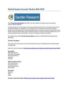 Global Smoke Grenade Market Research Report 2016-2020