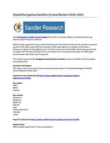 Global Navigation Satellite System Market Research Analysis 2020