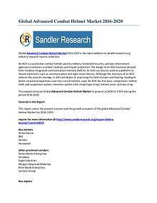 Advanced Combat Helmet Market Growth Scenario to 2020