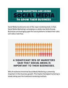 How Marketers are using social media to grow their business