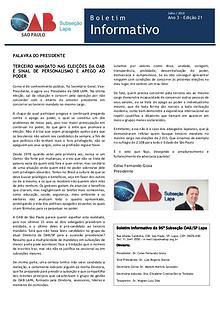 Boletim Informativo OAB Lapa