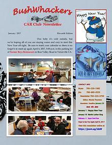 BushWhackers Car Club Newsletter