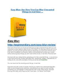 Easy Blur review demo & BIG bonuses pack