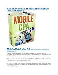 Mobile CPA Profits 2.0 review & massive +100 bonus items