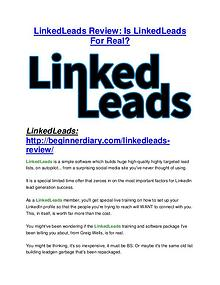 LinkedLeads reviews review and giant bonus with +100 items
