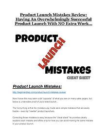 Product Launch Mistakes Review-$32,400 bonus & discount