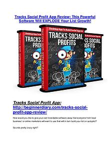 Tracks Social Profit App TRUTH review and EXCLUSIVE $25000 BONUS