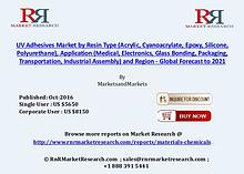 UV Adhesives Market to Increase 9.15% CAGR by 2021