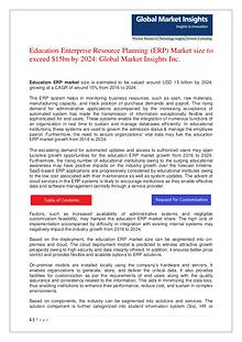 Education ERP Market size to grow at over 15% CAGR from 2016 to 2024