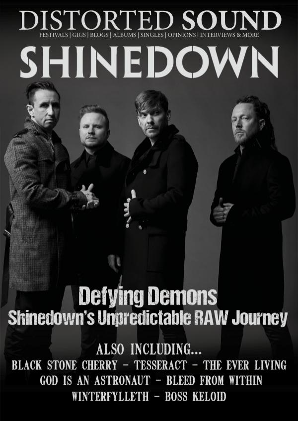 Distorted Sound Magazine 36 - Shinedown Cover