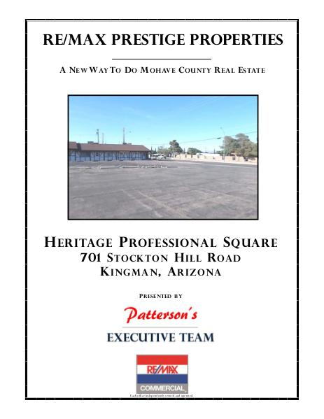 Mohave County Commercial Real Estate Heritage Professional Square