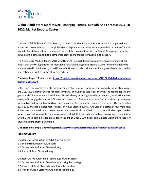 Global Adult Store Market