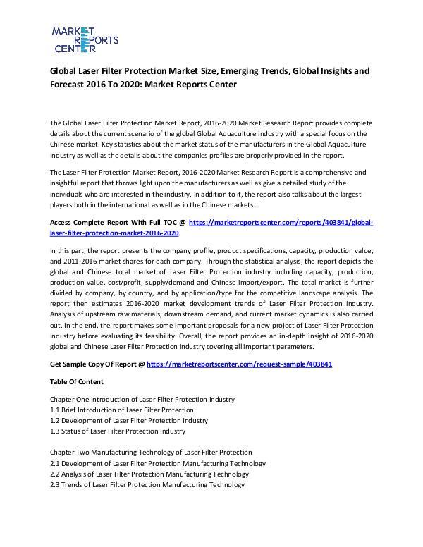 Global Laser Filter Protection Market