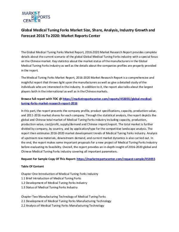 Global Medical Tuning Forks Market