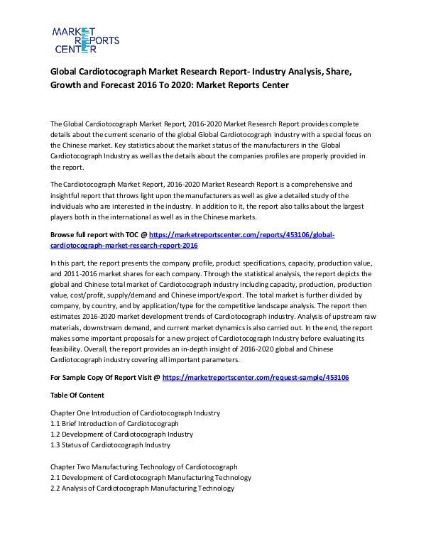 Global Cardiotocograph Market