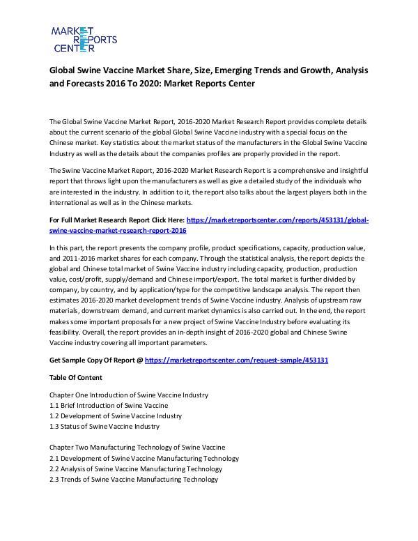 Global Swine Vaccine Market