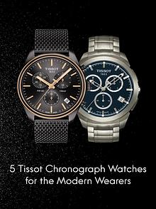 5 Tissot Chronograph Watches for the Modern Wearers