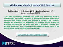 Portable WIFI Market Research Report