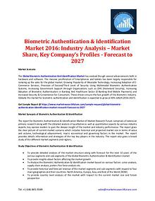 Biometric Authentication & Identification Market 2016-2027