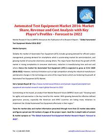Automated Test Equipment Market 2016-2022