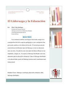 El Liderazgo y la Educacion