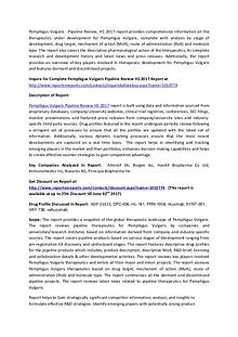 Pemphigus Vulgaris Pipeline - Therapeutics Review H1 2017