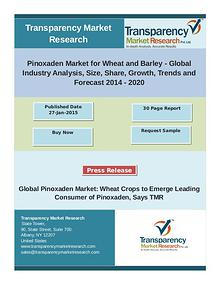 Pinoxaden Market is anticipated to reach US$ 862.2 million in 2020, e