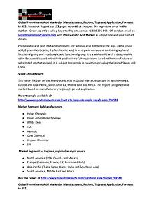 Global Phenylacetic Acid Market Analysis Report