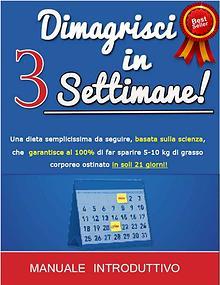 Dimagrisci in 3 Settimane Manuale Dietetico Pdf