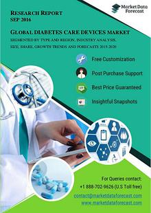 Global Diabetes Care Devices Market Growth Analysis and 2020 Forecast