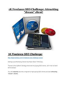 1K Freelance SEO Challenge Detail Review and 1K Freelance SEO Challenge $22,700 Bonus
