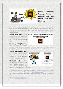 Adobe Illustrator Training Courses