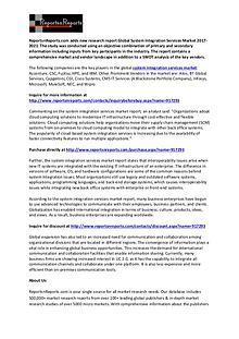 System Integration Services Market Vendors SWOT Analysis Report 2021