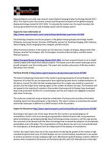Emerging Display Technology Market 2021 Global Forecast Report