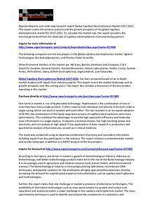 2021 Capillary Electrophoresis Market Global Research and Analysis