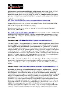 Underbars Refrigeration Market SWOT Analysis Report to 2021
