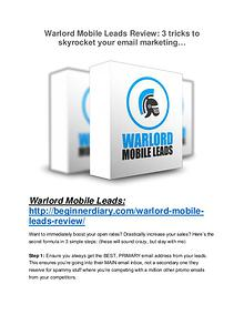 Warlord Mobile Leads review and Exclusive $26,400 Bonus