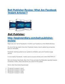 Bolt Publisher review demo and premium bonus