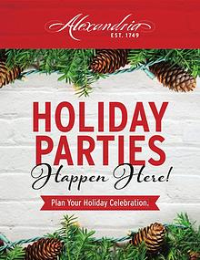 Plan the perfect holiday party in Alexandria, Virginia.
