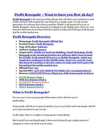 Profit Renegade review & Profit Renegade $22,600 bonus-discount