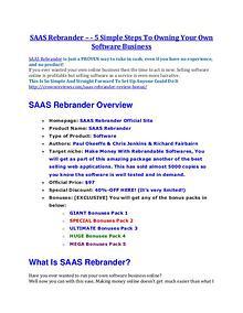 SAAS Rebrander review & bonuses - cool weapon